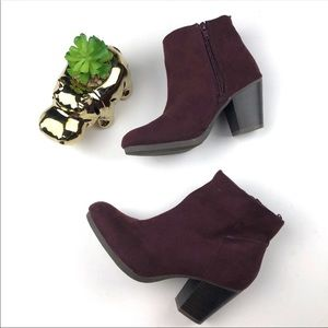 Old Navy Maroon Ankle Boots